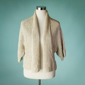 Eileen Fisher M Linen Blend Cardigan Sweater